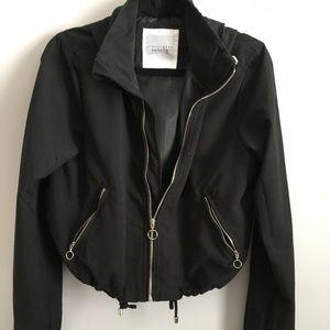 New black jacket bomber with hood
